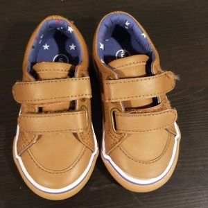 Baby/toddler size 5 tan velcro shoes